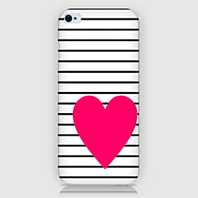 Red Love Pattern Phone Back Case Cover for iPhone5C 3935335
