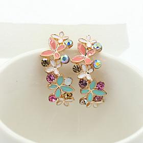 Women's Crystal Drop Earrings - 18K Gold Plated, Rhinestone, Gold Plated European, Fashion For / Imitation Diamond / Austria Crystal