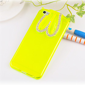 Elegant Decorated Hang Rope Rabbit Ear Scaffold Design Silicone  Hard Back Case for iPhone 6/6S (Assorted Colors) 3925936
