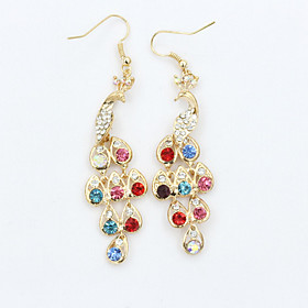 Women's Crystal Drop Earrings 18K Gold Plated Rhinestone Gold Plated Earrings Ladies European Fashion Jewelry For / Imitation Diamond / Austria Crystal