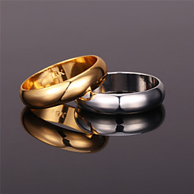 Women's Band Ring Ring - Platinum Plated, Gold Plated, Alloy Vintage, Party, Work Gold / Silver For Party Anniversary Birthday