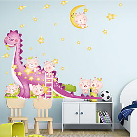 Wall Stickers Wall Decals Style Cartoon Dinosaur PVC Wall Stickers 3913243