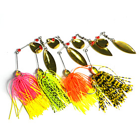 4 pcs Hengjia Metal Spinner Baits 14.8g  Floating Fishing Lures 4082074