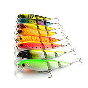 Hard Fishing Baits  8 pcs Three-section Floating Minnow 105MM 14G 4122133
