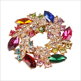 Women's Brooches - Crystal, Rhinestone, Imitation Diamond Flower Luxury, Party Brooch Rainbow For Wedding / Party / Special Occasion