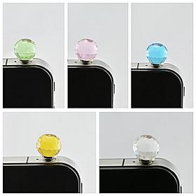 bola de cristal a prueba de polvo enchufe de 3,5 mm para el sumsung iphone (color al azar) 4186569