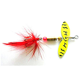 Hengjia 5pcs Spoon Metal Fishing Lures  Spinner Baits 4.5g #8 Hook 4136011