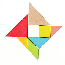 Tangram Jigsaw Puzzle Wooden Puzzle Fun Classic Classic Pieces Boys' Kid's Kids Gift 4058121