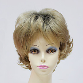 Capless Short Synthetic Synthetic Wavy Womens Wigs 4092319