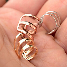 Men's Women's Ear Cuff Earrings Earrings Simple Style Fashion Jewelry Silver / Rose / Golden For Wedding Party Daily Casual Masquerade Engagement Party