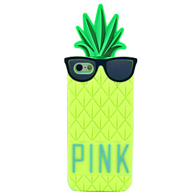 Wear Glasses Pineapple Pattern Silicone Soft Case for iPhone 5/5S 1345103