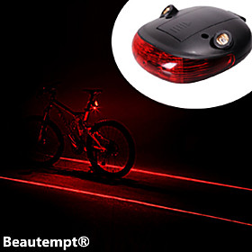 Laser LED Bike Light Rear Bike Tail Light Safety Light Tail Light Mountain Bike MTB Cycling Waterproof Impact Resistant Laser Lithium Battery Battery Cycling /