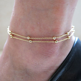 Anklet - Vintage, Party, Work Gold / Silver For Daily Women's