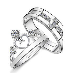 Crown Couple Rings Prince And Princess Wedding Ring 2pcs promo code 2016