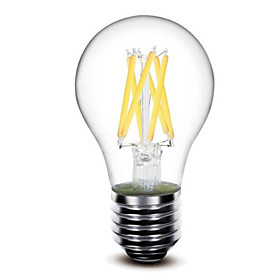 1pc 5 W 500 lm E26 / E27 LED Filament Bulbs G60 6 LED Beads COB Dimmable Warm White 220-240 V 110-130 V / 1 pc / RoHS / LVD