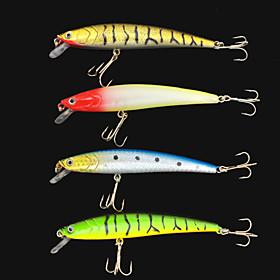 4Pcs Hard Bait Lifelike Minnow 105mm/10g Fishing Lure Baits Tackle 4378497