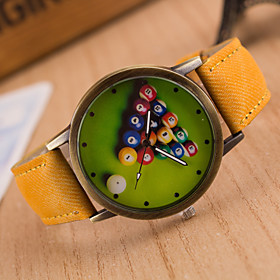 Men's Wrist watch Quartz / Hot Sale Leather Band Vintage Casual Black White Blue Red Brown Green Grey Pink Yellow 5279362