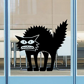 Wall Stickers Wall Decals Style Halloween Thriller Cat PVC Wall Stickers 4229261