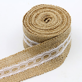 Solid Color Jute Wedding Ribbons - 1 Piece/set Weaving Ribbon Gift Bow Decorate Favor Holder Decorate Gift Box Decorate Wedding Scene