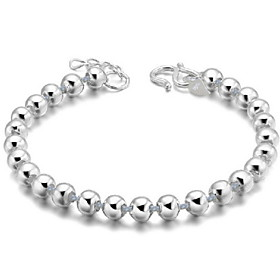 Women's Charm Bracelet Vintage Bracelet - Sterling Silver Ball Simple Bracelet Silver For Gift Daily Casual