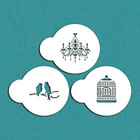 Mini Love BirdsChandelier Cookie Stencil Set, Cookie Stencil,Stencil for cake decorating,coffee stencil,ST-682 4300487