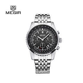 MEGIR2015 Top Luxury Brand Mens Quartz Watches Strip Fashion Waterproof Wristwatch Point with a Luminous Cool Watch Unique Watch 4461802