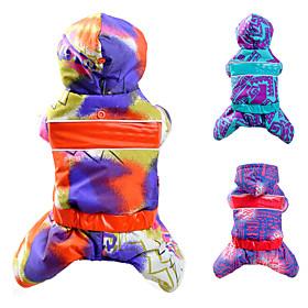 Cat / Dog Coat / Sweatshirt / Clothes/Jumpsuit Orange / Blue / Purple Dog Clothes Winter Cosplay 4501732