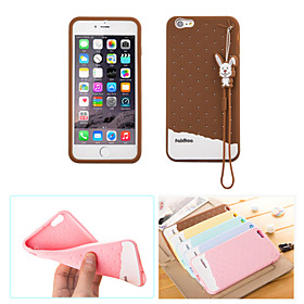 Fabitoo New Fashion Lovely Cute Healthy Cartoon Ice Cream Silica-gel Anti Drop Back Cover Case for iPhone 6 Plus/6S Plus 4484497