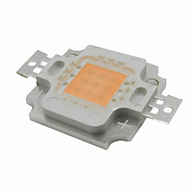 10W LED Grow Light Full Spectrum Integrated Grow LED Chip Cover 380nm~840nm Best for Hydroponics/Greenhouse