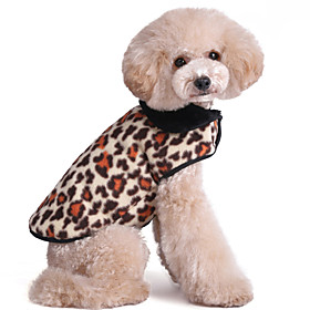Cat Dog Vest Dog Clothes Keep Warm Fashion Leopard Red Pink Camouflage Color Golden Leopard Costume For Pets 4456251