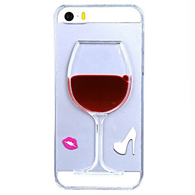 Flowing Liquid Water Wine Glass Pattern TPU Back Cover Case for iPhone 5/5S 4475992