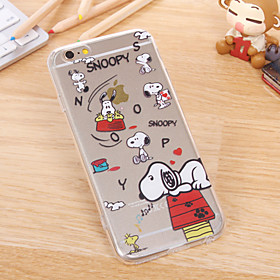 Thin Transparent TPU Dog Chart Case for iPhone 5/5S(Assorted Colors) 4484304