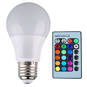 YWXLIGHT 1pc 5 W 500 lm E26 / E27 LED Globe Bulbs A60(A19) 1 LED Beads High Power LED Dimmable / Remote-Controlled / Decorative RGB 85-265 V / 1 pc / RoHS
