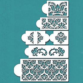 Damask Cake Stencil Set, Cake Border Stencils Set,Cake Side Design Stencil,ST-198 4418046