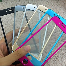 Titanium alloy Full Cover Arc Tempered Glass Screen Protector film for iPhone 6 4400288