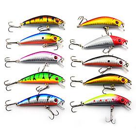 Hard Bait Minnow 70MM 8.5G Sinking Fishing Lure Packs (10 pcs) 302600