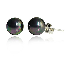 Women's Stud Earrings - Pearl, Imitation Pearl, Black Pearl Black For Party Daily Casual