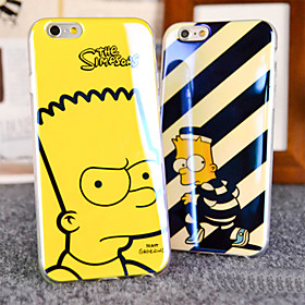 The Simpsons Cartoon Animation Blue Light Reflective Blu-ray Soft TPU Case Cover for iphone 6 Plus / 6s Plus 4448854