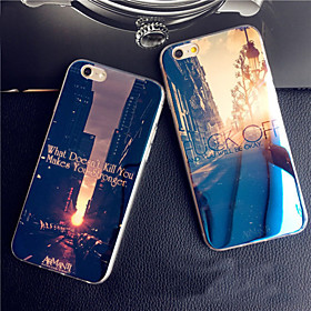 Dawn Sunset Sunrise City Blue Light Reflective Blu-ray Soft TPU Case for iphone 5/5s 4409764