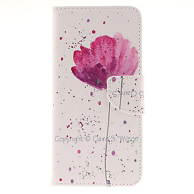 For Samsung Galaxy Note Wallet / Card Holder / with Stand / Flip Case Full Body Case Flower PU Leather Samsung Note 5 4483108