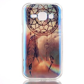 Dreamcatcher Pattern Blu-ray TPU Soft Back Cover Case for Galaxy J1 4536790
