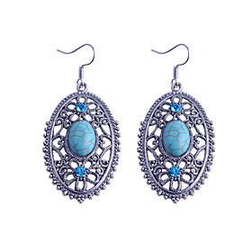 Women's Crystal Drop Earrings Crystal Silver Plated Earrings Jewelry Blue For Party Daily Casual