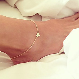 Anklet Chains Body Chain - Gold Plated Heart Unique Design, Simple Style, Fashion Golden For Party Daily Beach Women's