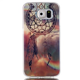 Dreamcatcher Pattern Blu-ray TPU Soft Back Cover Case for Galaxy S6/ S6 Edge/S6 Edge Plus/S3/S4/S5 4536206