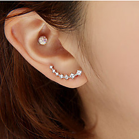 Women's Stud Earrings - Rhinestone, Imitation Diamond Star Luxury, Fashion Silver / Golden For Wedding Party Daily
