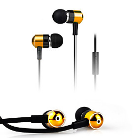 High Quality Stereo Headset In Ear Metal Earphone handsfree Headphones with Mic 3.5mm Earbuds for Player Samsung iphone 4583985