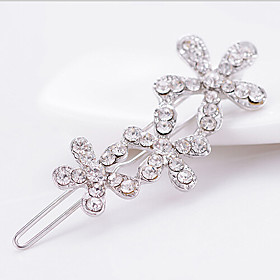 Women's - Cubic Zirconia, Rhinestone Party, Fashion Brooch Silver For Wedding / Party / Special Occasion