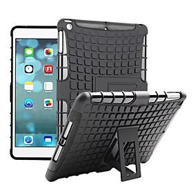 Etui Til Apple iPad iPad Mini 4 iPad Mini 3/2/1 iPad Air 2 iPad Air Støtsikker med stativ Bakdeksel Rustning Hard PC til Apple iPad iPad