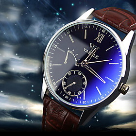 Luxury Brand Fashion Faux Leather Blue Ray Glass Men Watch 2015 Quartz Analog Business Wrist Watches Men montre homme Cool Watch Unique Watch 4536644