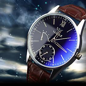 Luxury Brand Fashion Faux Leather Blue Ray Glass Men Watch 2015 Quartz Analog Business Wrist Watches Men montre homme Cool Watch Unique Watch 4536644